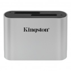 Kingston Technology - Workflow SD Reader lector de tarjeta USB 3.2 Gen 1 (3.1 Gen 1) Negro, Plata