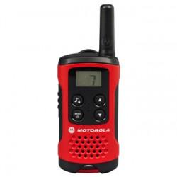 Motorola - T40 Walkie Talkie two-way radios 8 canales 0.0125 MHz Negro, Rojo