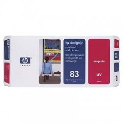 HP - Limpiador de cabezales de impresión y cabezal de impresión UV DesignJet 83 magenta