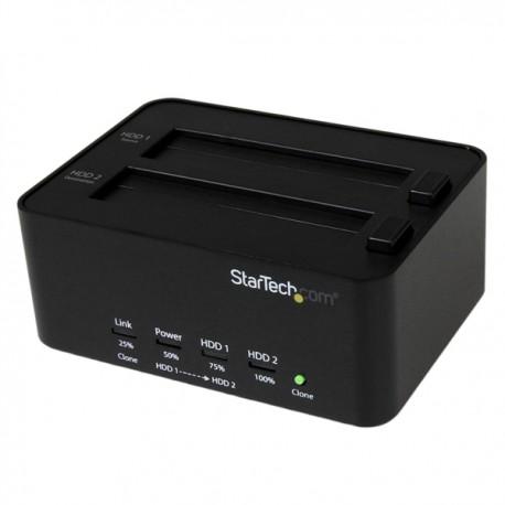 """StarTech.com - Estación de Conexión Duplicador Borrador Autónomo USB 3.0 de Discos Duros SSD SATA 2,5"""" 3,5"""" - Docki"""