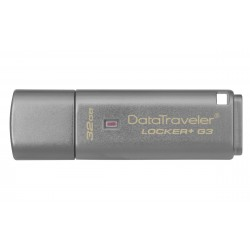 Kingston Technology - DataTraveler Locker+ G3 32GB unidad flash USB USB tipo A 3.2 Gen 1 (3.1 Gen 1) Plata