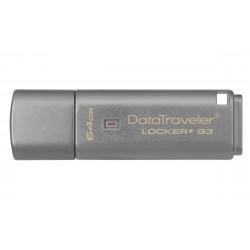 Kingston Technology - DataTraveler Locker+ G3 64GB 64GB USB 3.0 (3.1 Gen 1) Tipo A Plata unidad flash USB