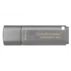 Kingston Technology - DataTraveler Locker+ G3 64GB unidad flash USB USB tipo A 3.2 Gen 1 (3.1 Gen 1) Plata