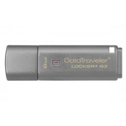 Kingston Technology - DataTraveler Locker+ G3 8GB 8GB USB 3.0 (3.1 Gen 1) Tipo A Plata unidad flash USB