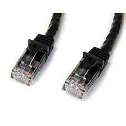 StarTech.com - Cable de Red Ethernet Snagless Sin Enganches Cat 6 Cat6 Gigabit 1m - Negro