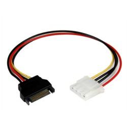 StarTech.com - Cable de 30cm Adaptador de Alimentación SATA a LP4 - Hembra a Macho