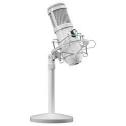 Mars Gaming - MMICXW Micrófono Estudio Profesional LED Mute USB Blanco