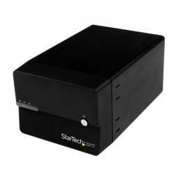 "StarTech.com - Caja Disco Duro Externo 2 Bahías de 3,5"" SATA III USB 3.0 UASP RAID JBOD eSATA con Ventilador - Negro"