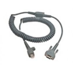 Intermec - 6.5ft RS232 9-Pin cable de serie Gris 2 m D-sub 9-pin