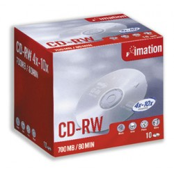 Imation - CD-RW 4x-10x 700MB (10) CD-RW 700MB 10pieza(s)