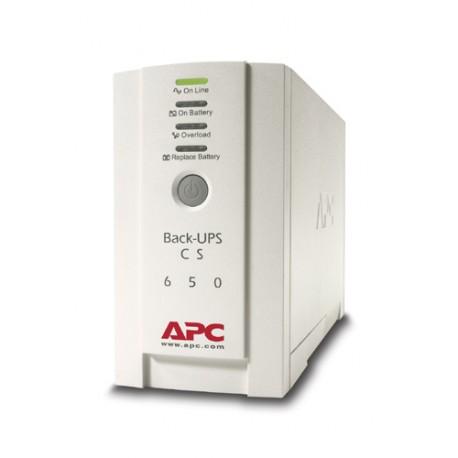 APC - Back-UPS En espera (Fuera de línea) o Standby (Offline) 650VA 4AC outlet(s) Torre Beige sistema de alimentaci