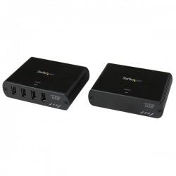 StarTech.com - Extensor de 4 Puertos USB 2.0 por LAN Gigabit o Conexión Directa de Cable Ethernet RJ45 Cat5e Cat6 -