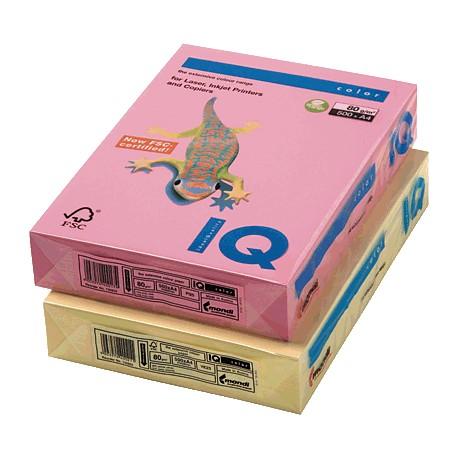 IQ - Papel multifunción color 250h 160g A4 Vainilla