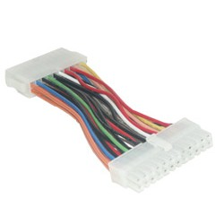 MCL - Cable adapteur pour connecteur ATX 20 contacts cable de transmisión Multicolor 0,15 m