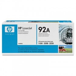 HP - Cartucho de tóner original LaserJet 92A negro