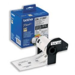 Brother - Etiquetas precortadas para CD/DVD (película plástica) cinta para impresora de etiquetas