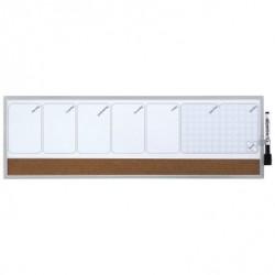 Rexel - Organizador semanal magn + tablero corcho 585x190mm