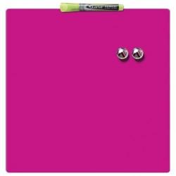 Rexel - Pizarra hogar magnética 360x360mm rosa