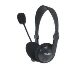 Nilox - Chat Live HM1 auriculares para móvil Binaural Negro Alámbrico