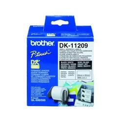 Brother - Etiquetas precortadas de dirección pequeñas (papel térmico) cinta para impresora de etiquetas