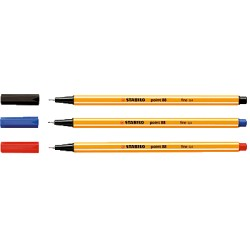 STABILO - Point 88 rotulador de punta fina Azul 10 pieza(s)