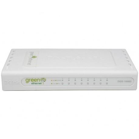 D-Link - DGS-1008D/E Conmutador de red no administrado Blanco switch