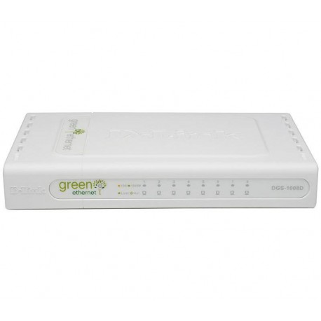 D-Link - DGS-1008D/E Unmanaged network switch Blanco switch