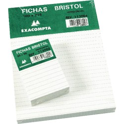 Exacompta - EXA PAQ 100 FICHAS 160X215 LISO 10504S