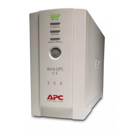 APC - Back-UPS En espera (Fuera de línea) o Standby (Offline) 350VA 4AC outlet(s) Torre Beige sistema de alimentaci