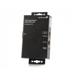 StarTech.com - Servidor de Dispositivos Serie de 1 Puerto RS232 con Power over Ethernet PoE - Conversor Serial a Re