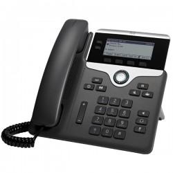 Cisco - 7821 teléfono IP Negro, Plata Terminal con conexión por cable 2 líneas