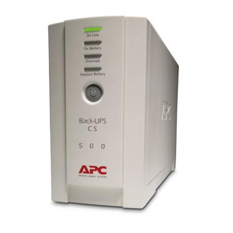 APC - Back-UPS En espera (Fuera de línea) o Standby (Offline) 500VA 4AC outlet(s) Torre Beige sistema de alimentaci