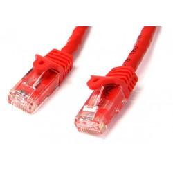 StarTech.com - Ethernet Cat6 Snagless de 3m Rojo - Cable Patch RJ45 UTP