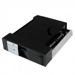 "StarTech.com - Rack Móvil Backplane de 2 Discos Duros HDD SATA SAS de 3,5"" o 2,5"" sin Bandeja para 2 Bahías de 5,25"""
