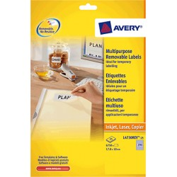 Avery - L4737REV-25 etiqueta autoadhesiva Blanco 675 pieza(s)