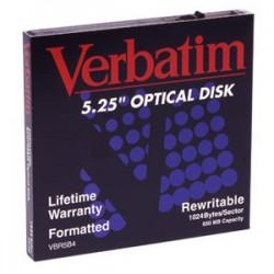 "Verbatim - 650MB ReWritable MO Disk disco magneto-oóptico 13,3 cm (5.25"")"